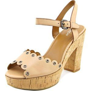 NWOT Coach April Beechwood Platform Sandals